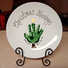 Christmas gift idea for grandparents Or just to remember first christmas. Probably say Merry Christmas instead of blessings.