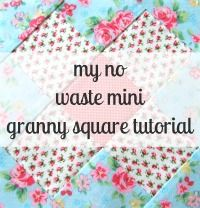 notes of sincerity: granny square tutorial - uses 2.5 inch squares for center.