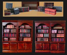 miniature bookcases. my library obsession knows no scale.