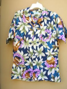 1980s Kula Bay Aloha shirt with flowers by Cherrybombsvintage, $25.00