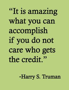 work quotations, working together quotes, credit quotes, thought