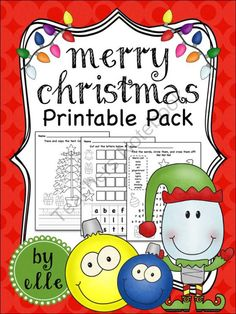 Christmas Math and Literacy Printable Pack from Elementary Elle on TeachersNotebook.com -  (15 pages)  - Christmas math and literacy activities and printables for primary students! Christmas is here and your students will love these holiday-themed math and literacy activities!