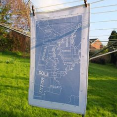 Shipping Forecast Regions Tea Towel
