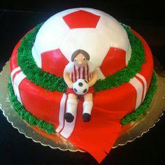 B-day soccer cake! soccer cake, cake wrap