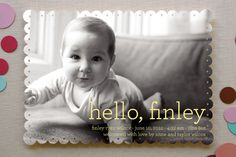 HELLO BABY #baby #birth #announcement