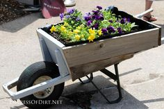 7 Creative ways to use old wheelbarrows and a bike in the garden | empressofdirt.net
