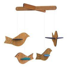 Petit Collage Blue Bird Deluxe Bamboo Wood Hanging Baby Mobile Nursery Decor   eBay