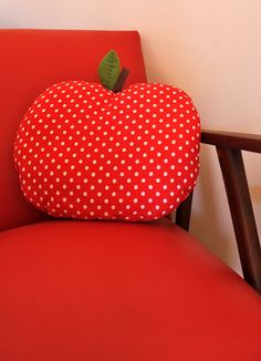 Apple cushion.
