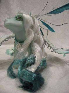 My little pony custom Sweet pea the Peacock. £120.00, via Etsy.