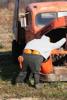 Mr. Pumpkin Butt Scarecrow