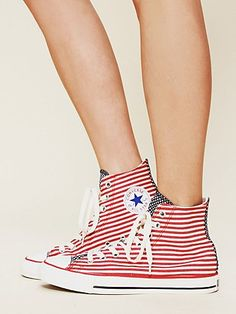 American Flag Converse right in time for 4th of July!