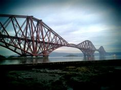 Forth Rail Bridge from North Queensferry in Fife, Scotland