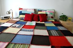felted patchwork sweater quilt