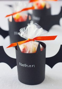 Halloween treat holders for a kids halloween party