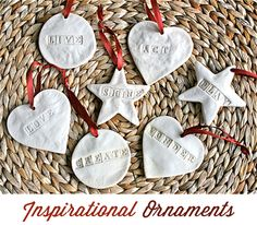 holiday, inspir ornament, salt dough ornaments, diy ornaments, christmas tree ornaments