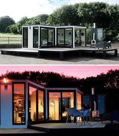 Hivehaus Hexagonal Flatpack Home Hides Lots of Storage
