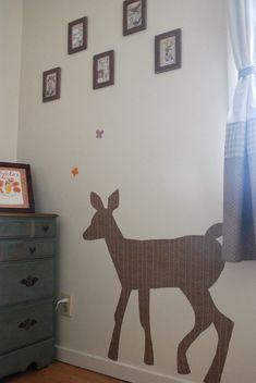 Fabric wall decal tutorial!  So cute!