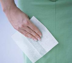 A dryer sheet will remove static cling