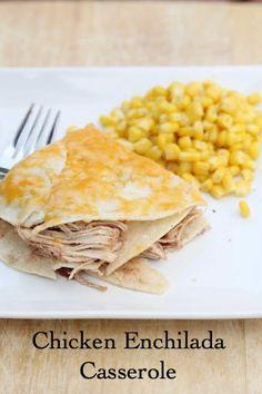 A delicious gluten free recipe for Chicken Enchilada Casserole plus it's freezer friendly! | 5DollarDinners.com