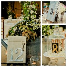 Table Numbers from rusticweddingchic.com