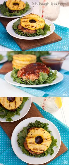 Grilled Pineapple Chicken Teriyaki Burgers   These absolutely scream summer!