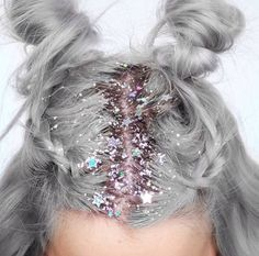 "♡ Pastel soft grunge aesthetic ♡ ☹☻ style-and-beauty: "" ✨Glitter Roots✨ """