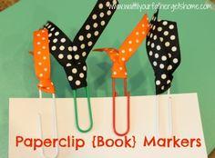 Paper Clip Bookmarks #diy