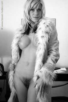 fur coat pin up style