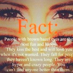 Hazel eyes = awesome