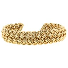 Handmade Braided Gold Cuff Bracelet. gorgeous!