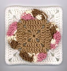 Ice Cream Cones Square free crochet pattern