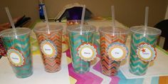 Chevron Tags for Chevron drink cups! Stampin' UP!