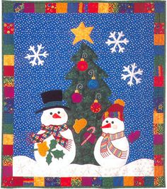 "Let It Snow!, 30 x 34"", pattern by Claire Oehler at Flourish - Art"