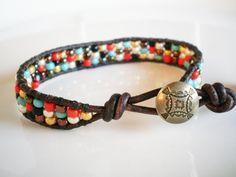 button, wrap bracelets, diy seed bead bracelets, beaded bracelets, leather cuffs