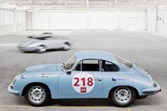 Light Blue Porsche 356 Racer