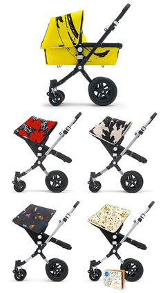 Bugaboo and Andy Warhol's estate team up to create these design savvy carriages! Yes!