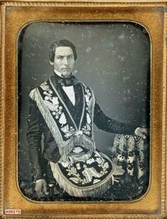 tuesday-johnson:  ca. 1850's, [portrait of a gentleman wearing an Odd Fellows apron] via the Daguerreian Society, Grant Dinsmore Collection