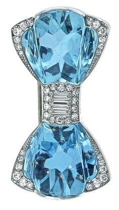 Aquamarine Brooch by Tiffany