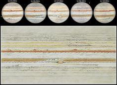 Flat map of Jupiter's cloud tops