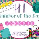 This is a 4 page Number of the Day Freebie with 2 pages to fill in based on whichever number you are learning about and 2 blank pages to fill in wi...