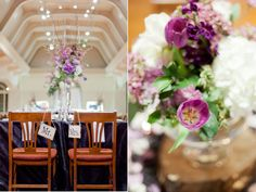 Mr & Mrs signs displayed on Henry Ford Museum Wedding Reception chairs