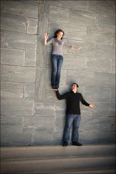 They are lying on the ground at the bottom of a staircase...love it!