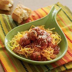 Spaghetti (Squash) and Meatballs!