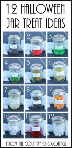 Trick or Treat Halloween Party Game -- let each person choose a jar for a trick or a treat.  The trick is they are all tricks that are treats!  Click to see!