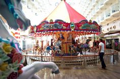 Kids always love a ride on our carousel onboard #AllureoftheSeas #OasisoftheSeas! #cruising #RoyalCaribbean