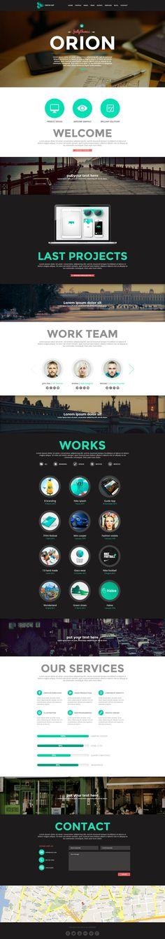 ORION   #webdesign #it #web #design #layout #userinterface #website #webdesign < repinned by www.BlickeDeeler.de   Take a look at www.WebsiteDesign-Hamburg.de