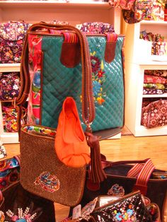 Have you seen our newest addition? Bags and totes by Consuela. Shown here are the Consuela Tote and Xbody and Seychelles' Bonsai. Shoe Bank, Stillwater, Oklahoma