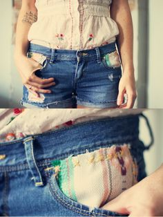 Another cute DIY for jean shorts.