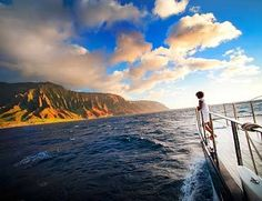 Napali Coast Boat Tour - Kauai Luxury Sailing | Southern Star - The Na Pali Coast is like nothing I've ever seen.  We didn't get to take a cruise but this is the tour service that got the best reviews, and I would have loved to do a sunset cruise...it's the only thing we didn't do in Kauai.