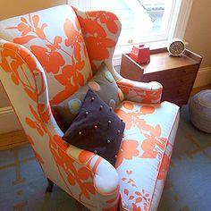 love fabric on chair ~